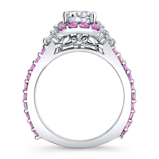 Pink Sapphire Engagement Ring 7930LPS Image 2