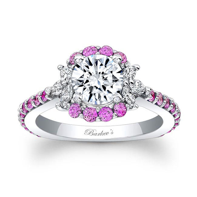 Pink Sapphire Engagement Ring 7930LPS Image 1
