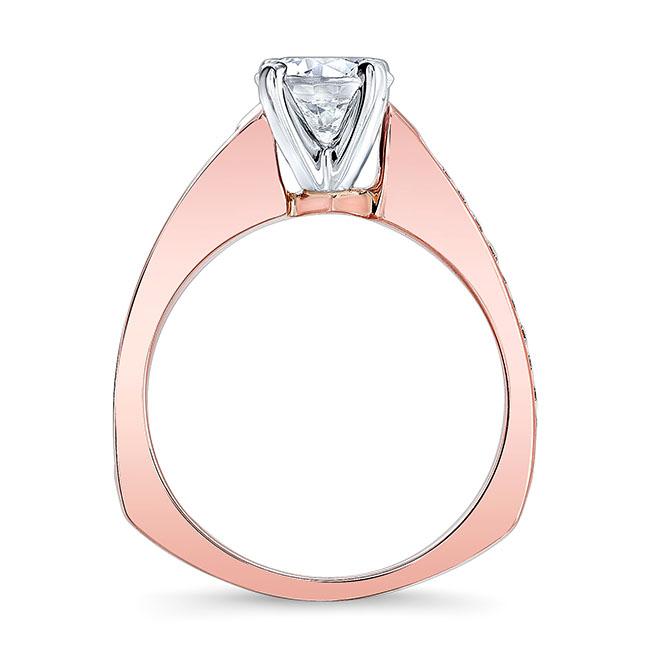 Moissanite White Gold Engagement Ring MOI-7931L Image 2