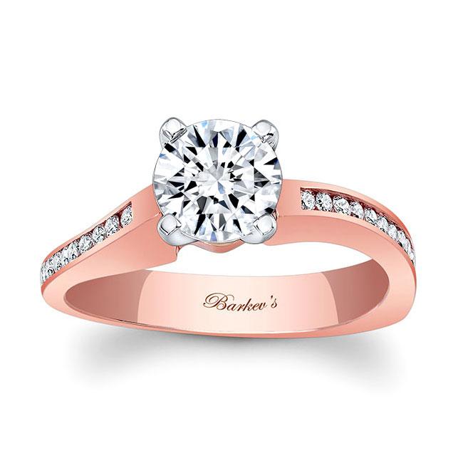 Moissanite White Gold Engagement Ring MOI-7931L Image 1