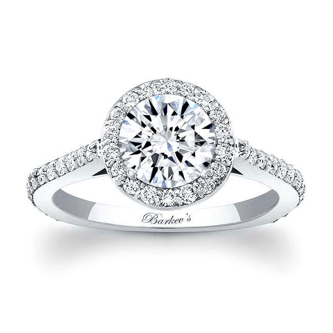 Halo Moissanite Engagement Ring MOI-7933L