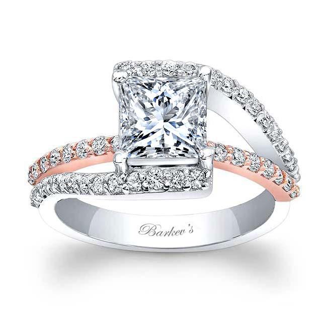 Split Shank Princess Cut Engagement Ring