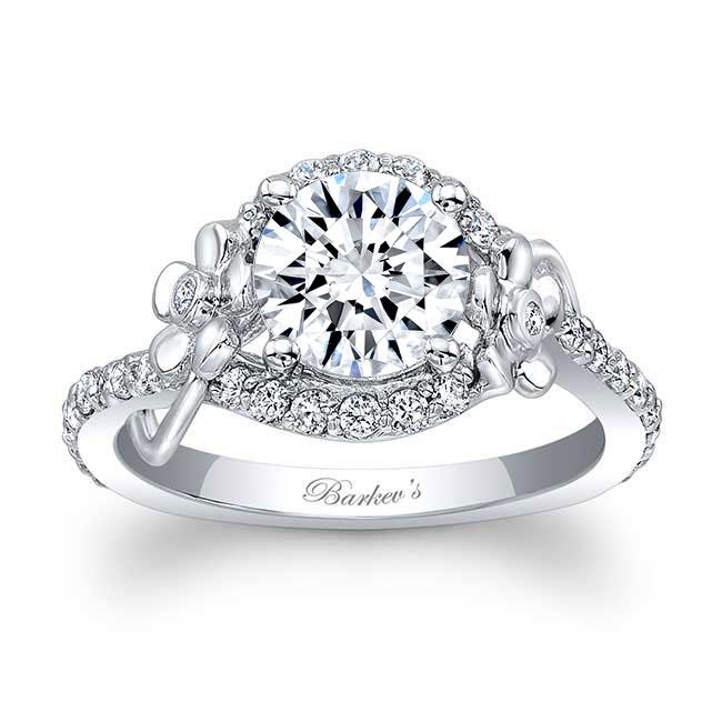 Flower Engagement Ring 7936L Image 1