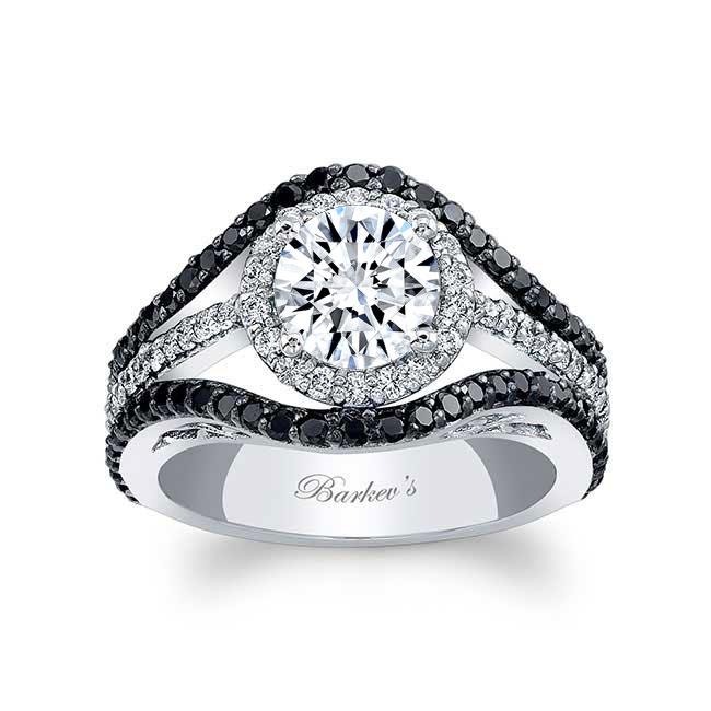 Black Diamond Engagement Ring 7941LBK Image 1