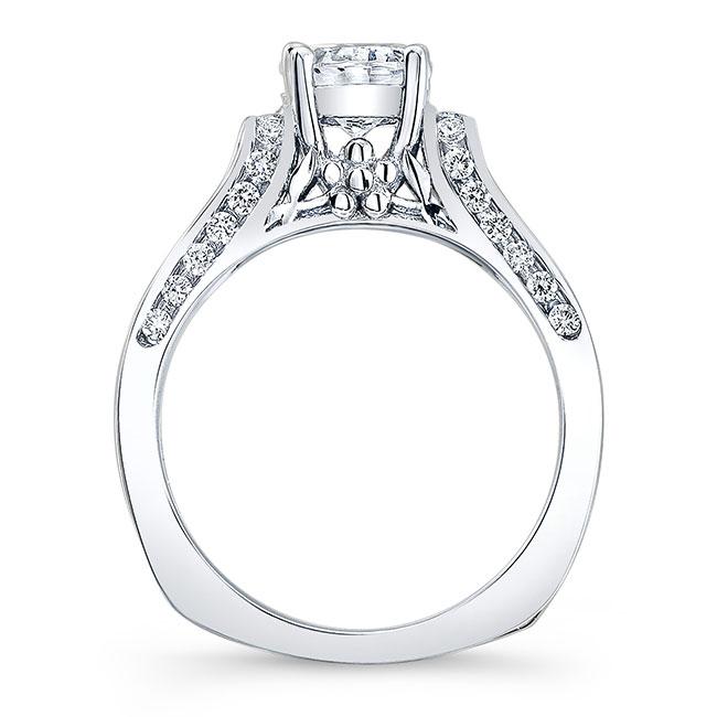 Moissanite White Gold Bridal Set MOI-7942S Image 2