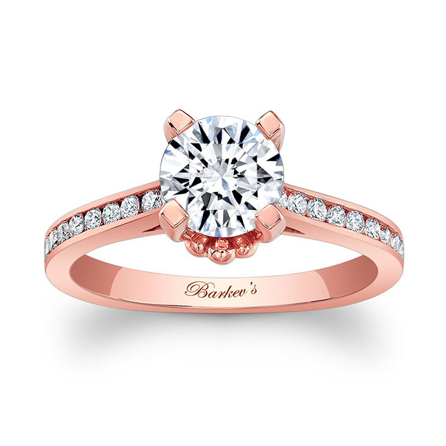 Moissanite And Channel Set Diamond Ring