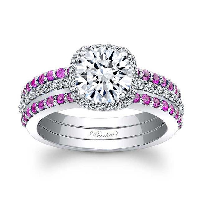 Pink Sapphire Bridal Set 7955S2PS