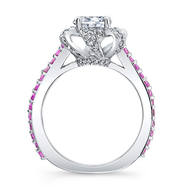Pink Sapphire Engagement Ring 7958LPS Image 2