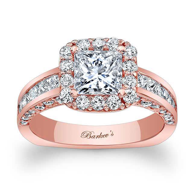Princess Cut Moissanite Engagement Ring MOI-7959L