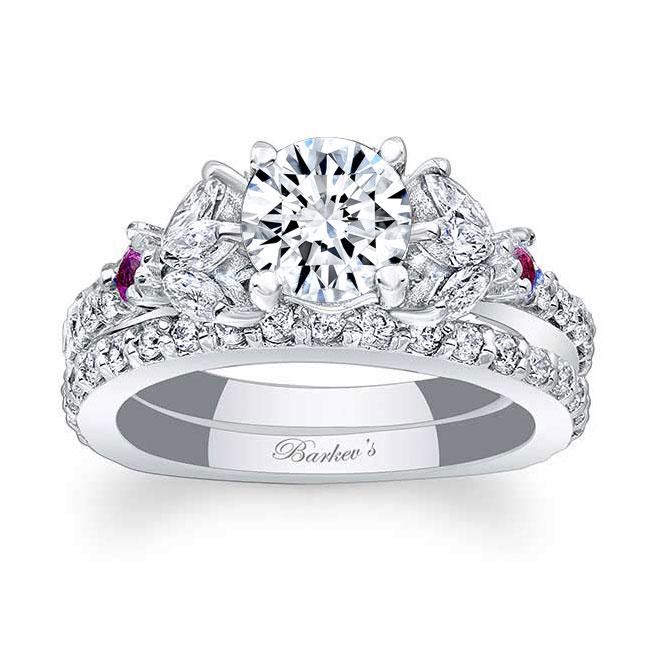 2 Carat Halo Pink Sapphire And Diamond Ring Image 1