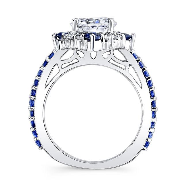 2 Carat Halo Sapphire And Diamond Ring Image 2