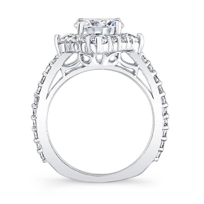 2 Carat Moissanite Halo Diamond Bridal Set Image 2