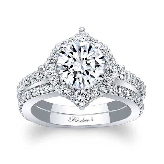 2 Carat Halo Diamond Bridal Set