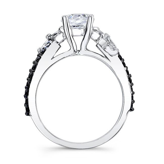 Black Diamond Engagement Ring 7968LBK Image 2