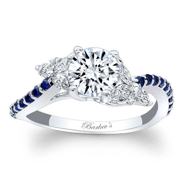 Blue Sapphire Engagement Ring 7968LBS Image 1