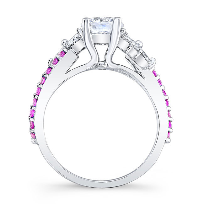 Pink Sapphire Engagement Ring 7968LPS Image 2