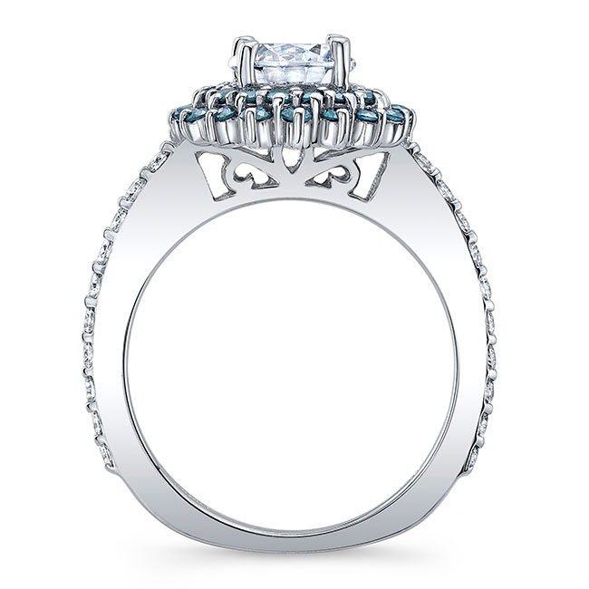 Blue Diamond Sunflower Ring Image 2