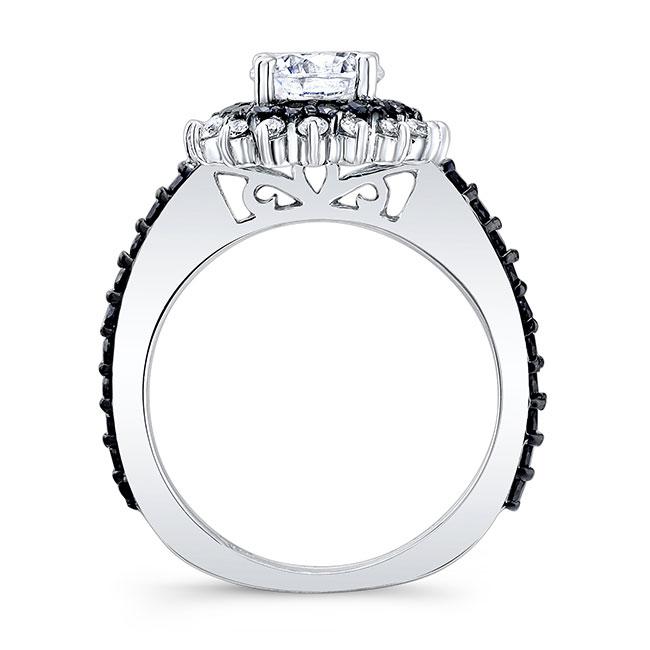 Black Diamond Sunflower Ring Image 2