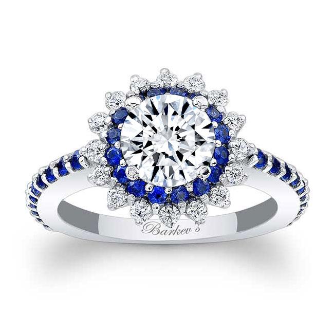 Sapphire Sunflower Ring Image 1