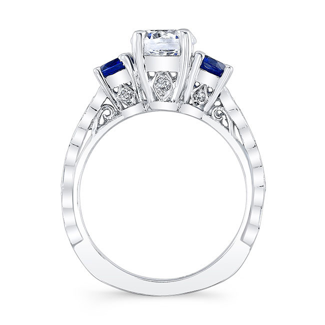 Blue Sapphire Engagement Ring 7973LBS Image 2