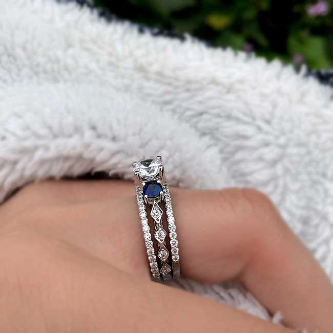 Blue Sapphire Bridal Set 7973S2BS Image 4