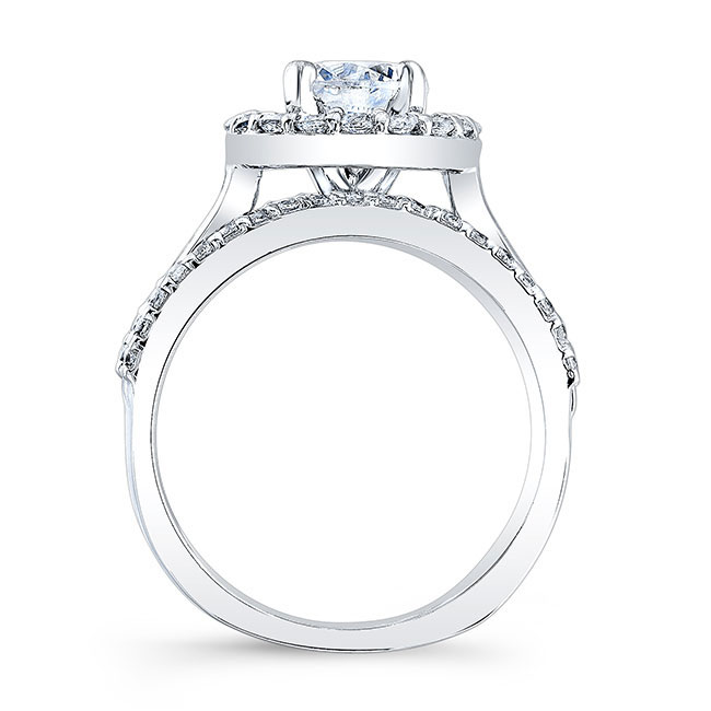 Channel Set Halo Engagement Ring Image 2