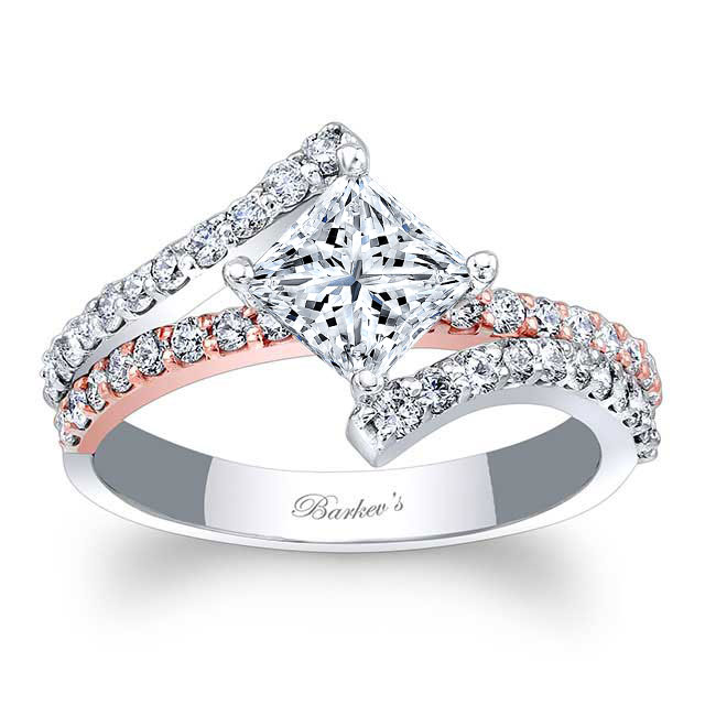 Kite Set Moissanite Engagement Ring