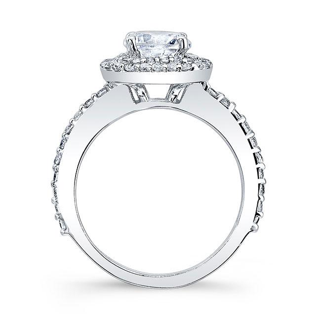 Double Halo Round Moissanite Engagement Ring Image 2
