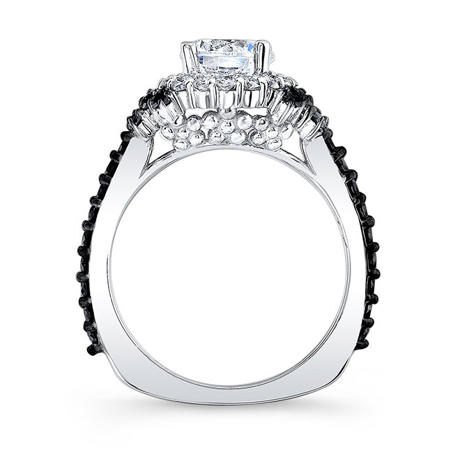 Black Diamond Accent Cluster Ring Image 2