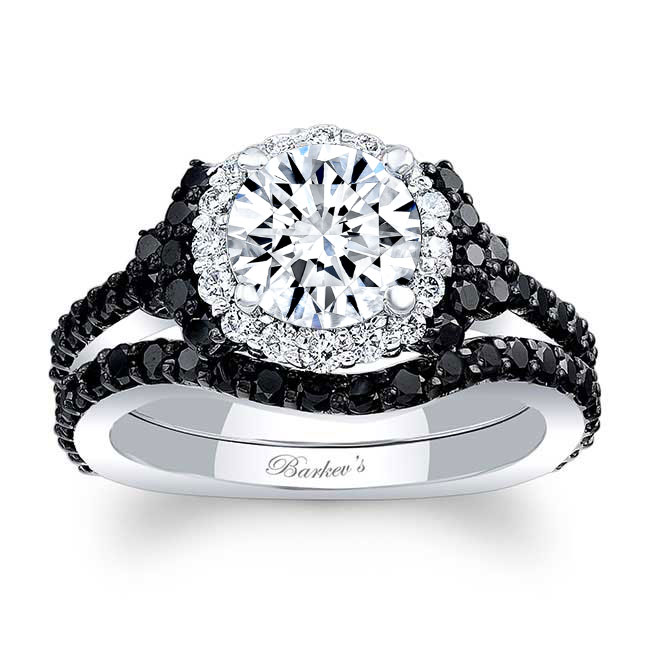 Black Diamond Accent Cluster Ring Image 1