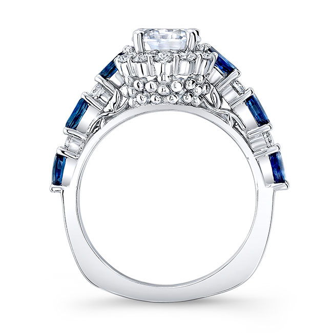 Blue Sapphire Engagement Ring 7980LBS Image 2