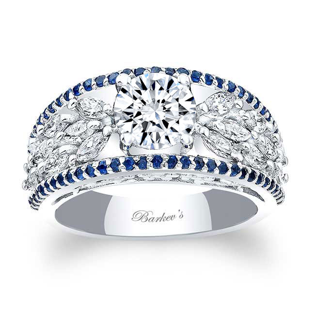 Blue Sapphire Engagement Ring 7980LBS