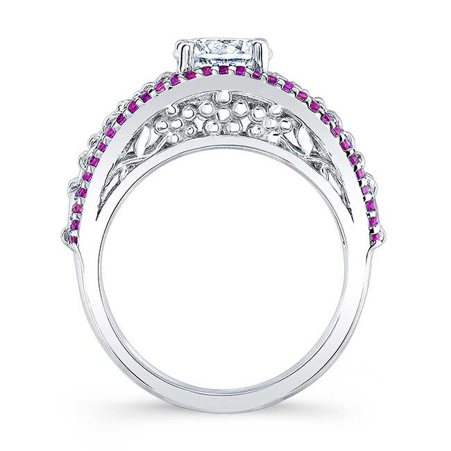 Pink Sapphire Engagement Ring 7980LPS Image 2