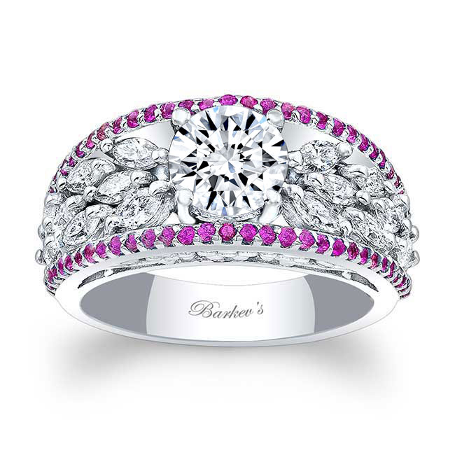 Pink Sapphire Engagement Ring 7980LPS Image 1