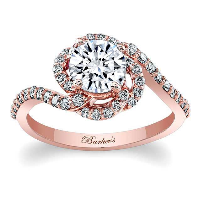 1.00ct. Round Unique Engagement Ring 7982L