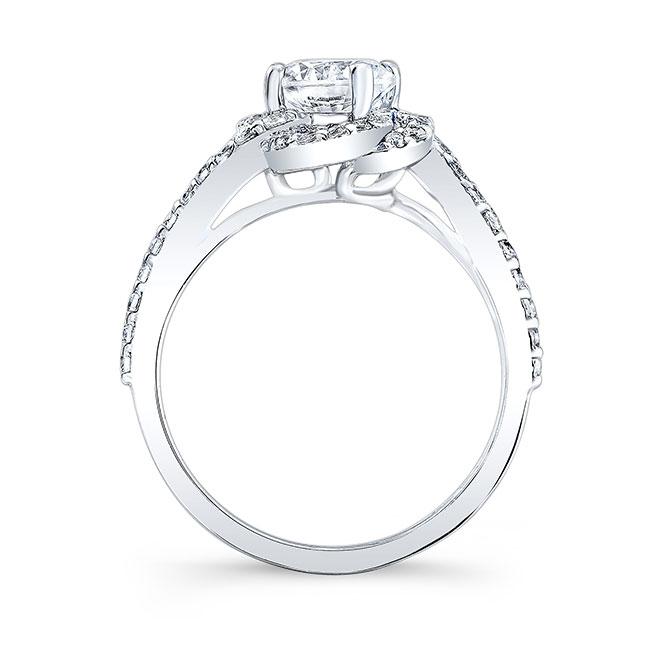 1.00ct. Moissanite Unique Engagement Ring MOI-7982L Image 2