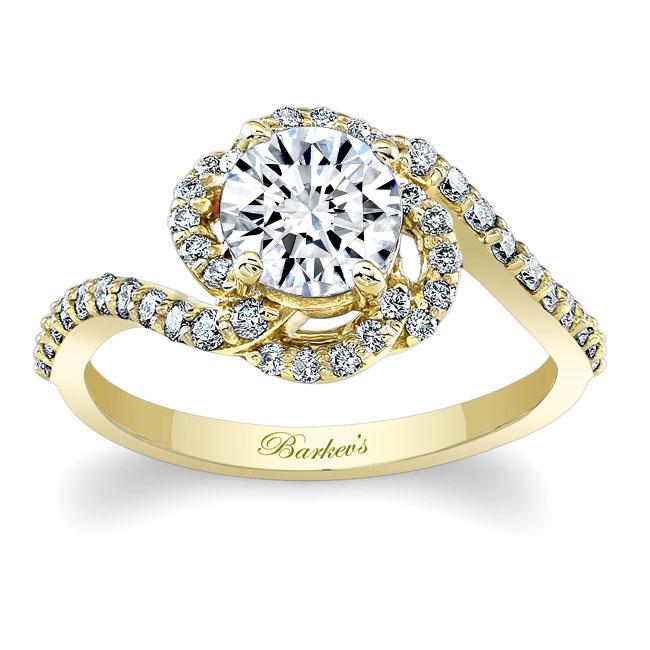 1.00ct. Round Unique Engagement Ring 7982L Image 1