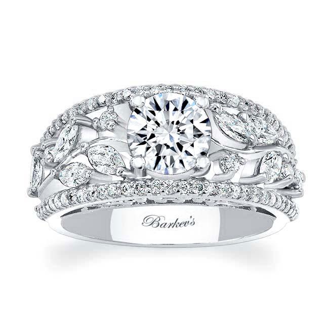 Unique Moissanite Engagement Ring MOI-7984L