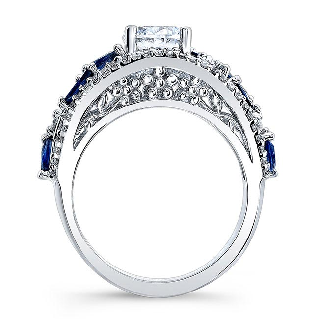 Blue Sapphire Engagement Ring 7984LBS Image 2