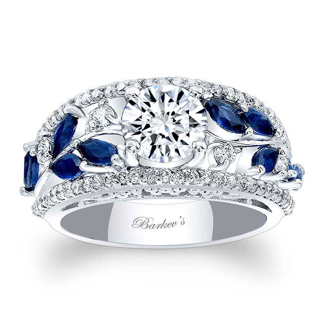 Blue Sapphire Engagement Ring 7984LBS Image 1