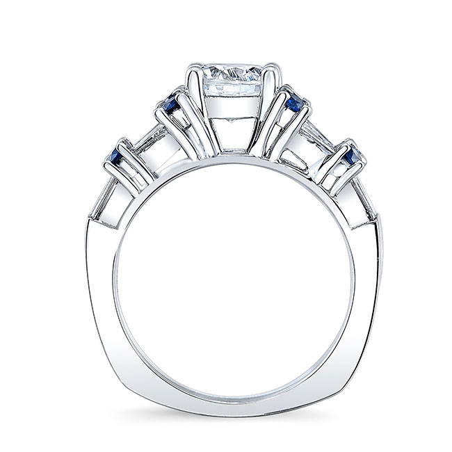 Blue Sapphire Engagement Ring 7985LBS Image 2