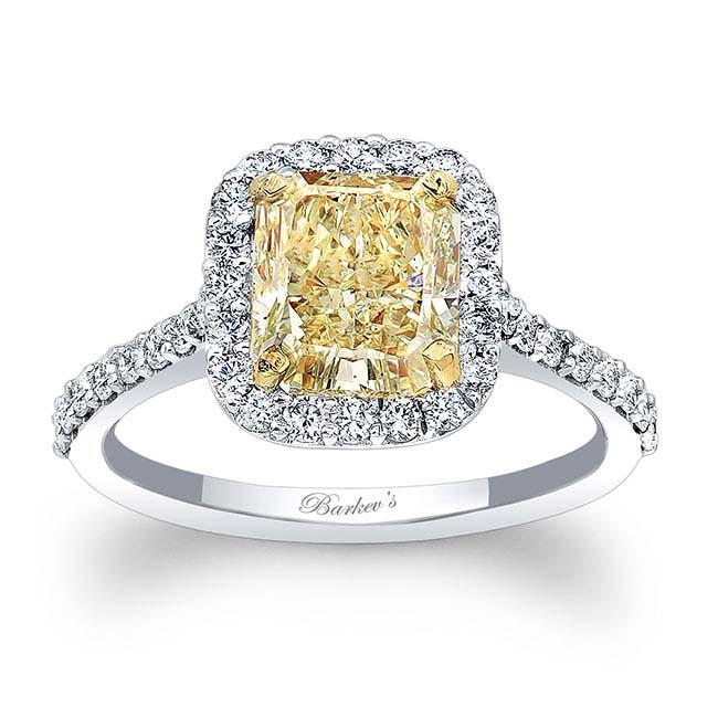 Radiant Cut Yellow Diamond Ring 7989LT
