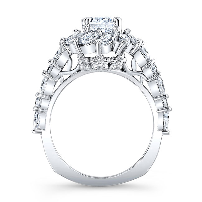 Moissanite Sunflower Engagement Ring Image 2