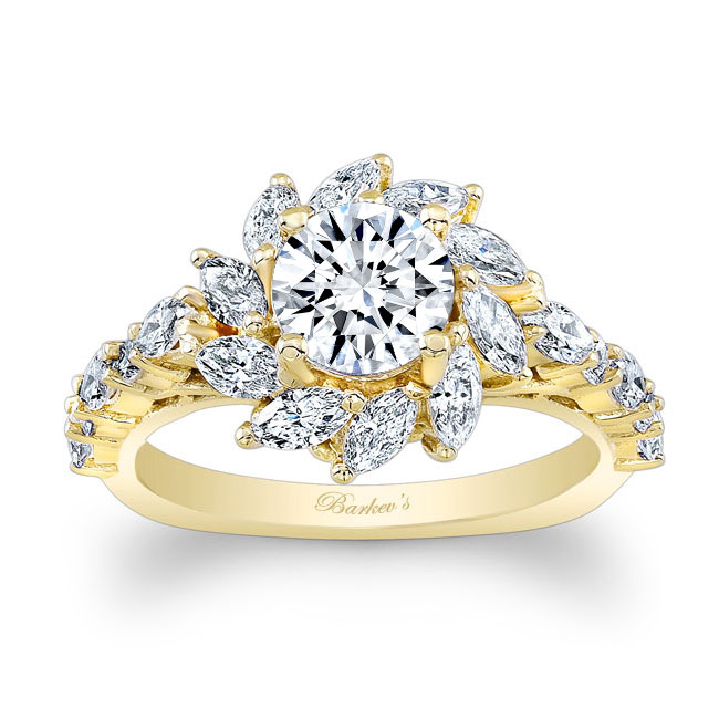 Sunflower Engagement Ring Image 1