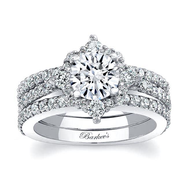 Halo Diamond Bridal Set 7995S2 Image 1