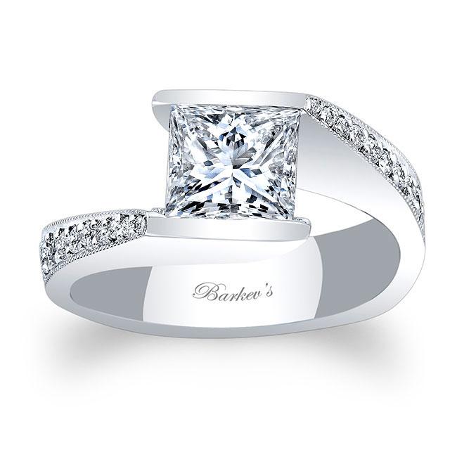 Princess Cut Moissanite Engagement Ring MOI-7996L Image 1