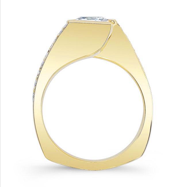 Princess Cut Moissanite Engagement Ring MOI-7996L Image 2