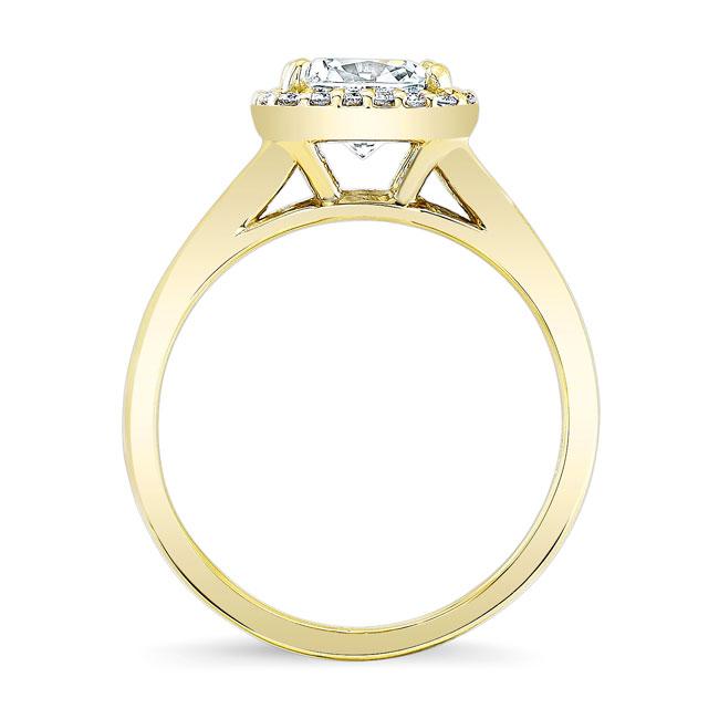 Cushion Cut Moissanite Engagement Ring MOI-7999L Image 2