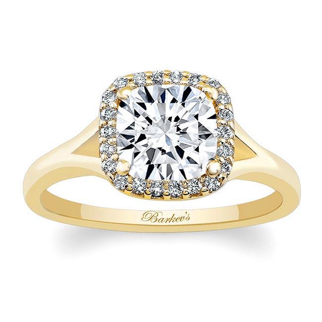 Cushion Cut Moissanite Engagement Ring MOI-7999L Image 1