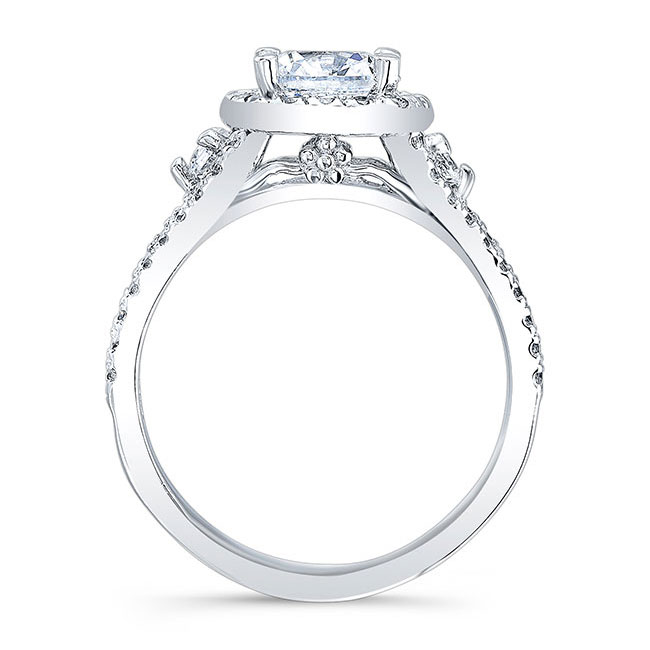 Cushion Cut Engagement Ring 8002L Image 2